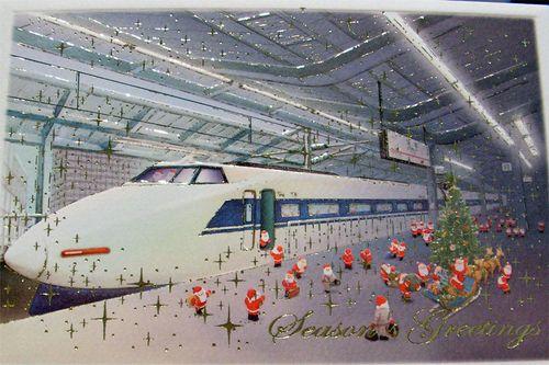 Japanese santas at train station
