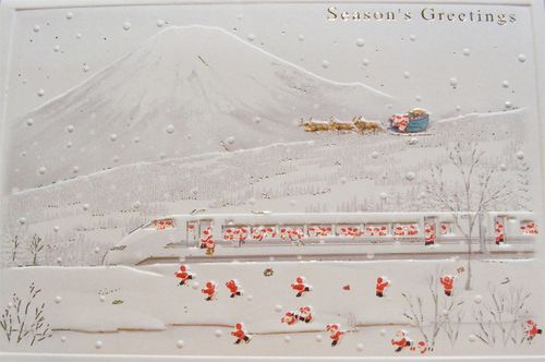 Japanese santas and mt fuji