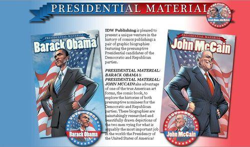 Presidental comic books