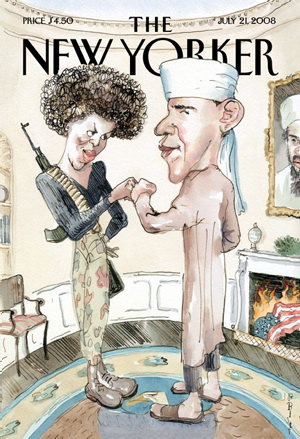 Michelle and barack obama new yorker cover