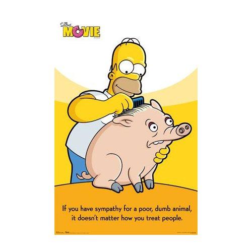 Homer pet piggie poster
