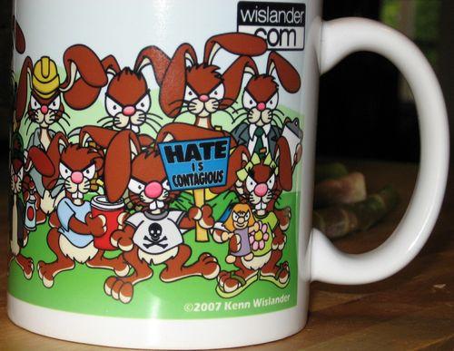 Angry bunny mug 2