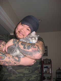 cute boys with cats